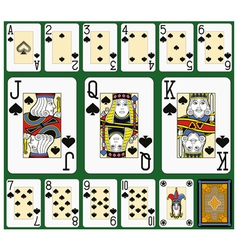 Spades Suite Black Jack large figures vector