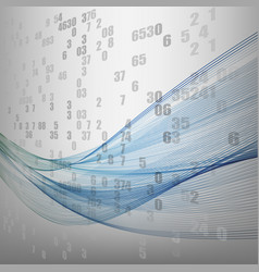 Technology background with abstract wave vector