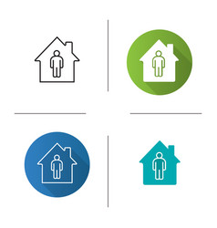 Tenant resident owner icon vector