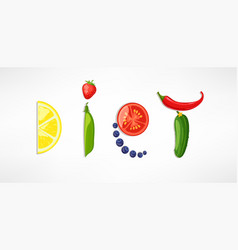 the concept of diet vector image