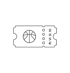 Ticket outline icon vector