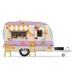 trailer food 03 vector image