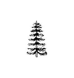 tree icon vintage vector image
