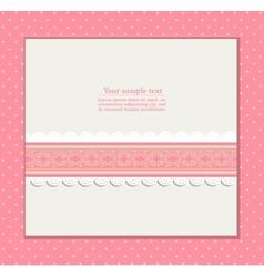 Vintage pink background for invitation card vector