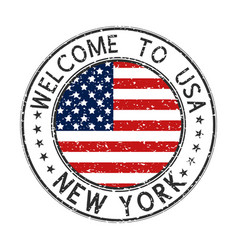 Welcome to new york usa travel stamp vector