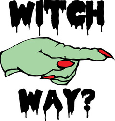 Witch Way vector