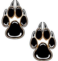 Wolf tracks logo mascot vector