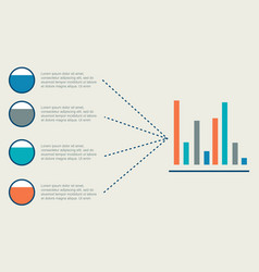 Graphic data style business infographic vector