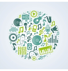 music concept vector image vector image