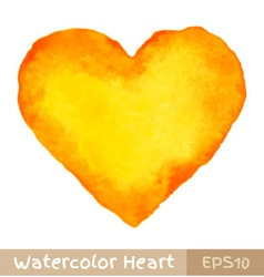 Yellow Watercolor Heart vector image