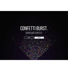 051016 1028 confetti burst vector image vector image