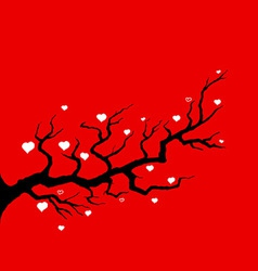 cherry blossom and hearts vector image vector image