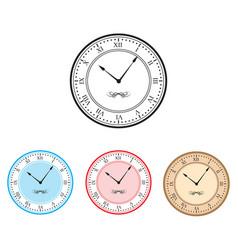 clock clock icon set vector image vector image