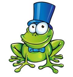 happy frog party vector image
