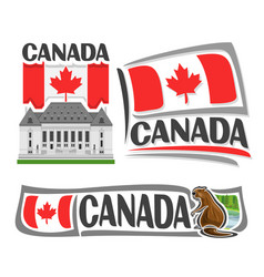 logo for canada vector image vector image