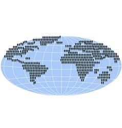 people standing on world map vector image vector image