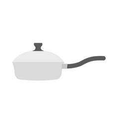 roaster pan isolated kitchen utensils on white vector image