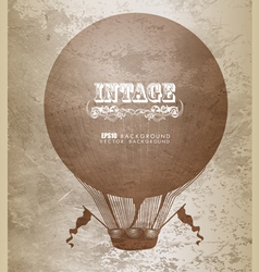 Vintage hot air balloon vector image