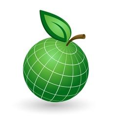 Earth Globe as Apple Symbol vector image