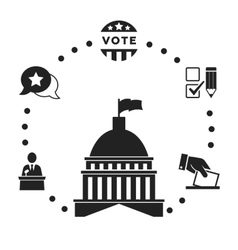 Election infographic icon set vector