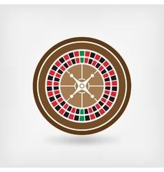 European roulette wheel casino symbol vector image vector image