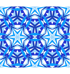 kaleidoscope starry blue background vector image vector image