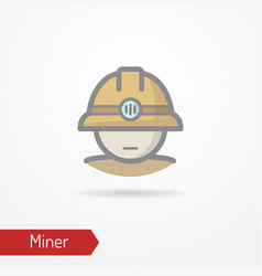 miner face icon vector image