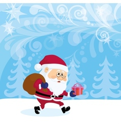 Santa Claus in forest vector image vector image