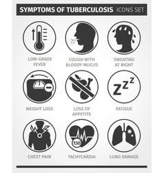 Icons set Symptoms of tuberculosis TB vector image
