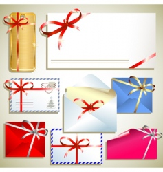 tags with bow vector image vector image