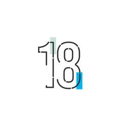 18 year anniversary celebration template design vector
