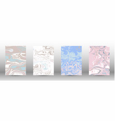 a set of modern covers abstract marble pattern vector image