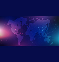 abstract banner with world map design vector image