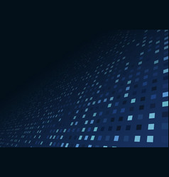 abstract technology digital data blue square vector image