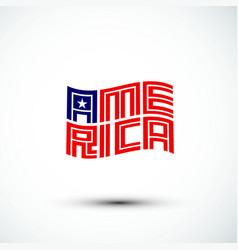 america logo flag sign amp symbol flat vector image