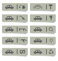 auto service stickers vector image