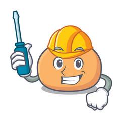 Automotive mochi mascot cartoon style vector