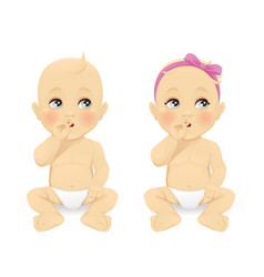 baby thinking vector image