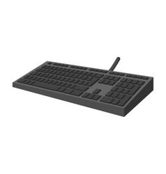 Black keyboard cartoon icon vector image