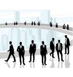 Black silhouettes of business people vector