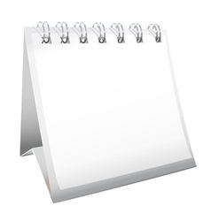 Blank calendar with spiral bound vector