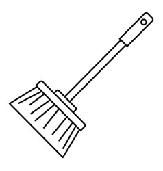 broom brush icon outline style vector image