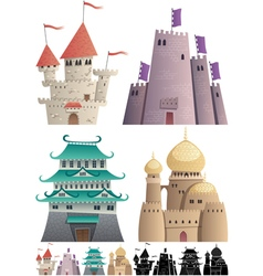 Cartoon Castles on White vector