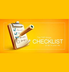 checklist things to do vector image