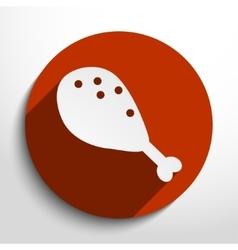 chicken leg web icon vector image