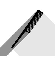 comb sign black icon with two flat gray vector image