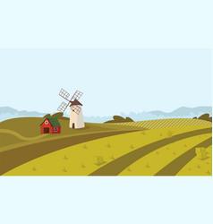 concept image farming rural landscape vector image