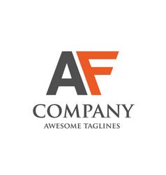 Creative letter af logo vector