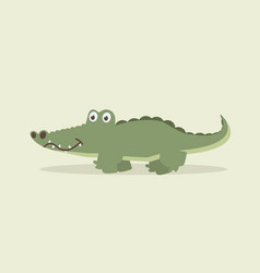 cute crocodile walking cartoon vector image