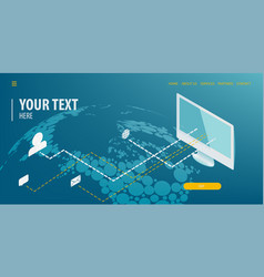 data connection isometric technology vector image